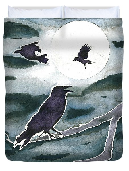 Crow Moon Duvet Cover