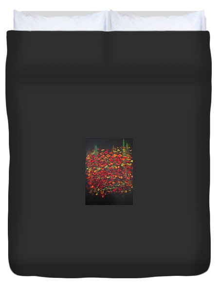 Crowd Of Poppies Duvet Cover