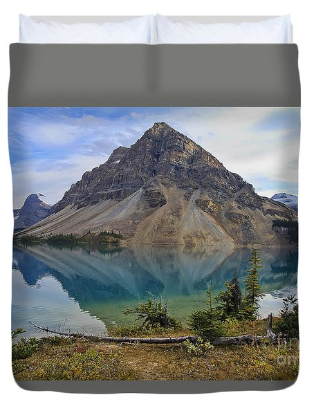 Crowfoot Mountain Banff Np Duvet Cover