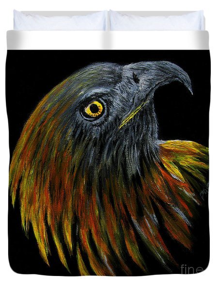 Crowhawk Original Duvet Cover by Peter Piatt