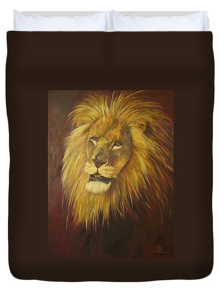 Crown Of Courage,lion Duvet Cover