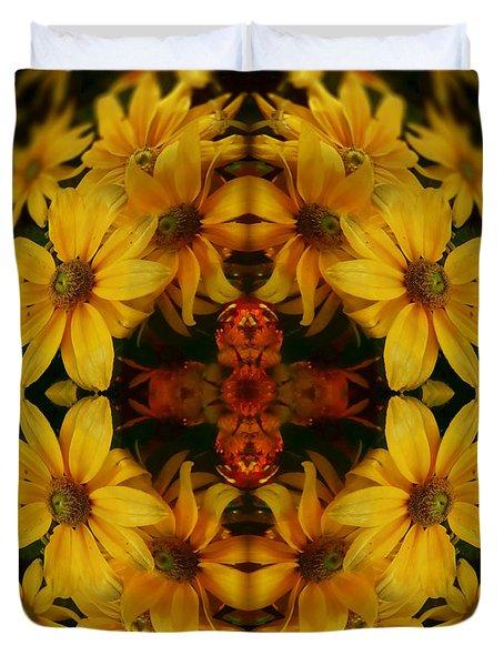 Crown Of Susans Duvet Cover