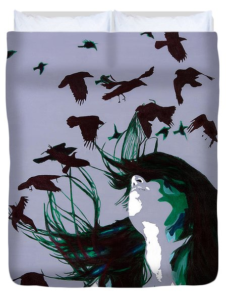 Crows Duvet Cover