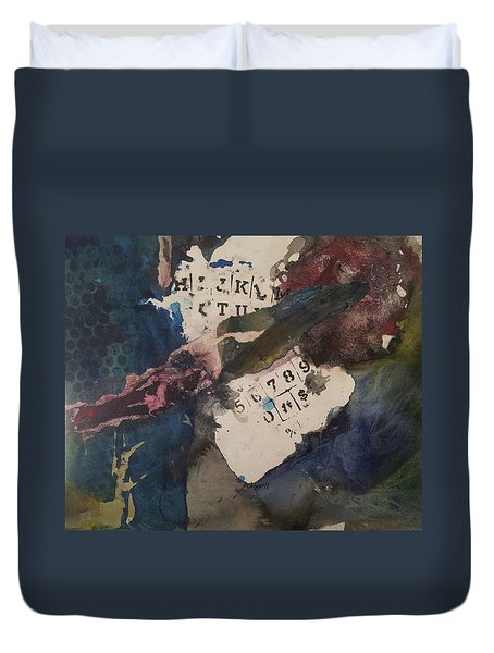 Cruci What Duvet Cover by Becky Chappell
