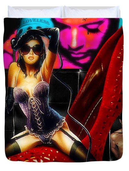 Cruela Black Duvet Cover