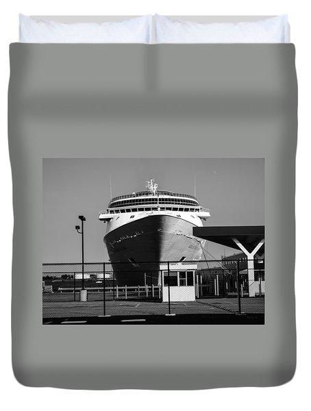 Cruise Ship Still Life Duvet Cover by Bob Orsillo