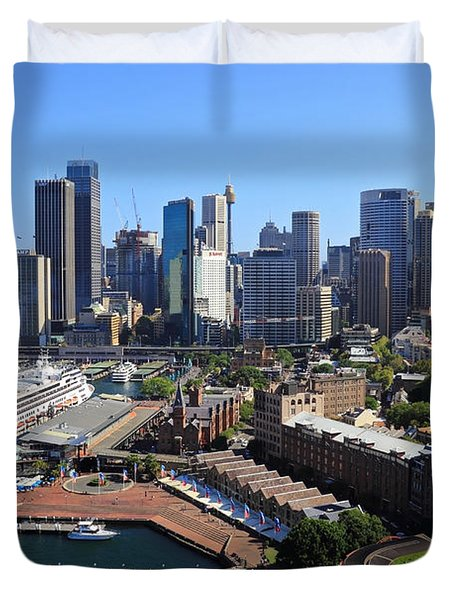 Cruiser Ship In Sydney Duvet Cover
