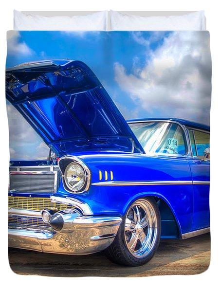 Cruisin' In Blue Duvet Cover