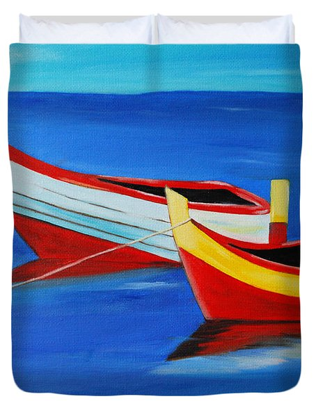 Cruising On A Bright Sunny Day Duvet Cover