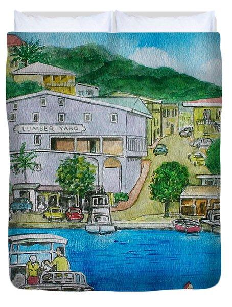 Cruz Bay St. Johns Virgin Islands Duvet Cover