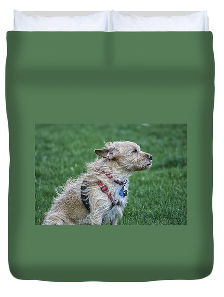 Duvet Cover featuring the photograph Cruz Enjoying A Warm Gentle Breeze by Thomas Woolworth