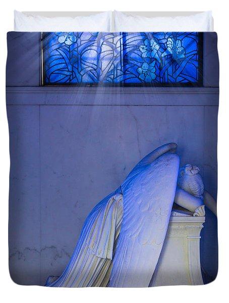 Crying Angel Duvet Cover by Inge Johnsson