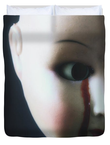 Crying Blood Duvet Cover by Joana Kruse