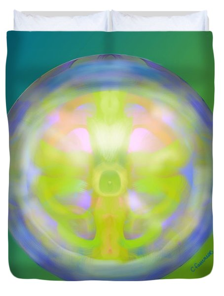 Crystal Ball Duvet Cover by Christine Fournier