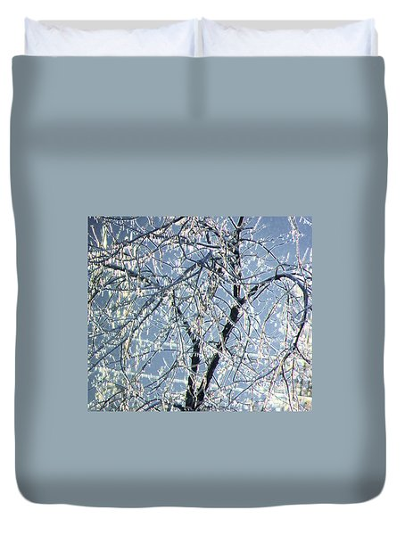 Crystal Beads Duvet Cover by Kathleen Struckle