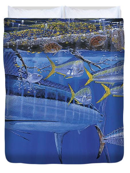 Crystal Blue Off00100 Duvet Cover by Carey Chen