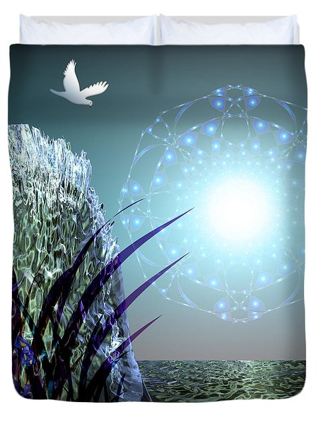 Crystal Breathing Rock Duvet Cover by Rosa Cobos