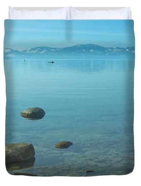 Crystal Clear Lake Tahoe Duvet Cover by Kim Hojnacki