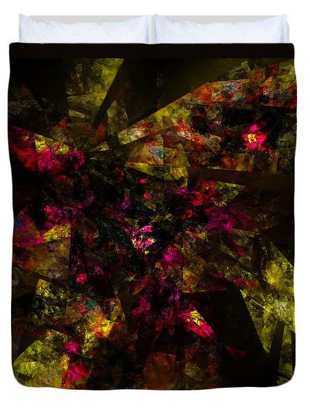 Duvet Cover featuring the digital art Crystal Inspiration #1 by Olga Hamilton