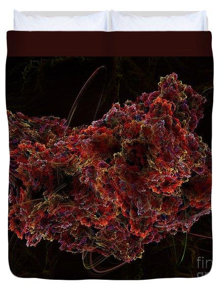 Duvet Cover featuring the digital art Crystal Inspiration #2 by Olga Hamilton