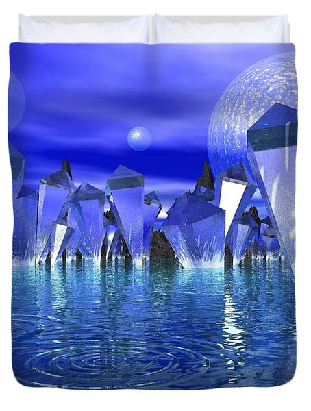 Crystal River Duvet Cover by Mark Blauhoefer