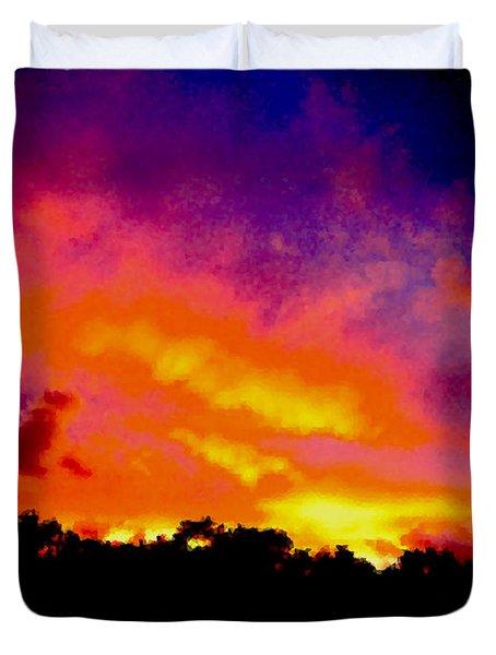 Crystal Sunrise Duvet Cover by Mark Blauhoefer
