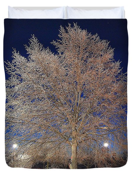 Crystal Tree Duvet Cover by Frozen in Time Fine Art Photography
