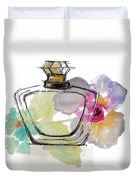 Crystal Watercolor Perfume I Duvet Cover