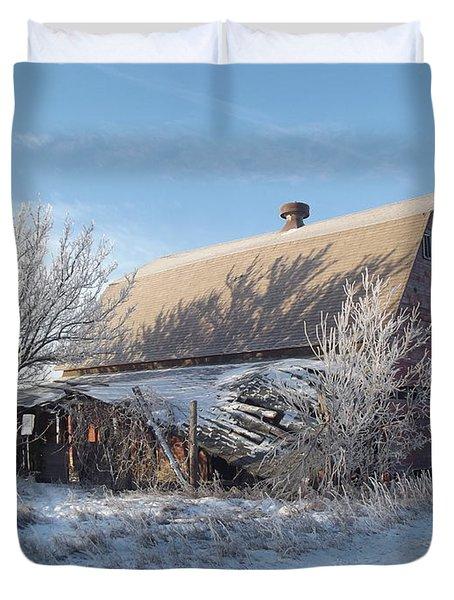 Crystaline Barn Duvet Cover by Bonfire Photography