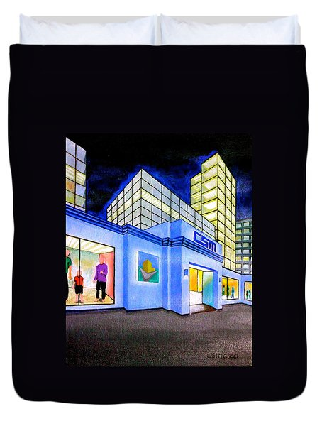 Duvet Cover featuring the painting Csm Mall by Cyril Maza