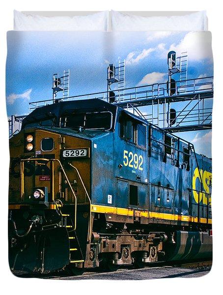 Csx 5292 Warner Street Crossing Duvet Cover