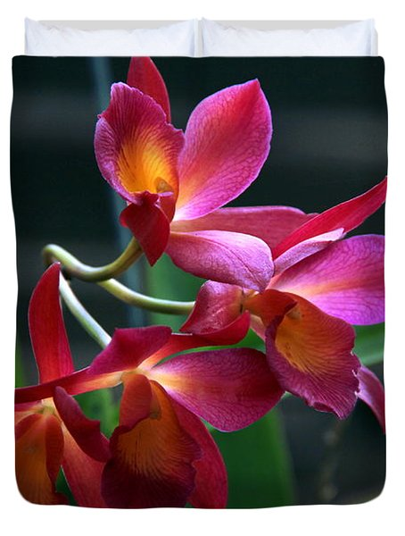 Duvet Cover featuring the photograph Ctna New River Orchid by Greg Allore
