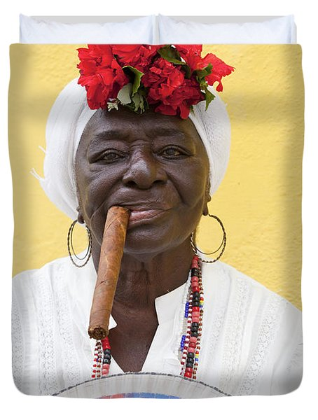 Cuban Lady Two Duvet Cover