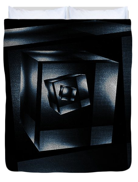 Cube In Cube Duvet Cover by Ramon Martinez