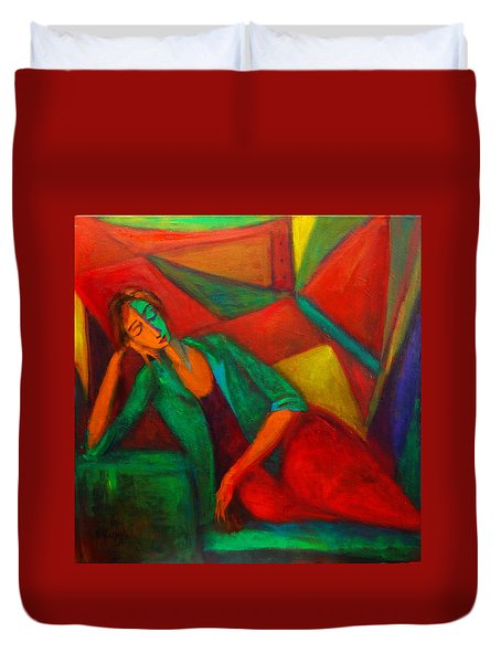 Cubism Contemplation  Duvet Cover