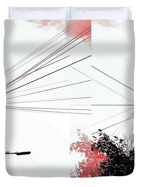 Cubist Sky  Duvet Cover