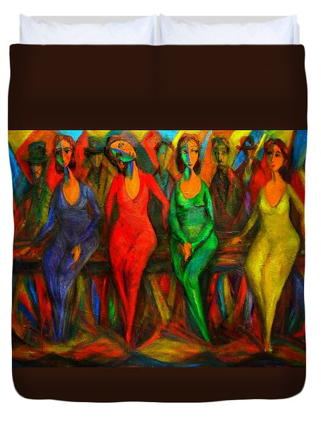 Cubism Dance  Duvet Cover