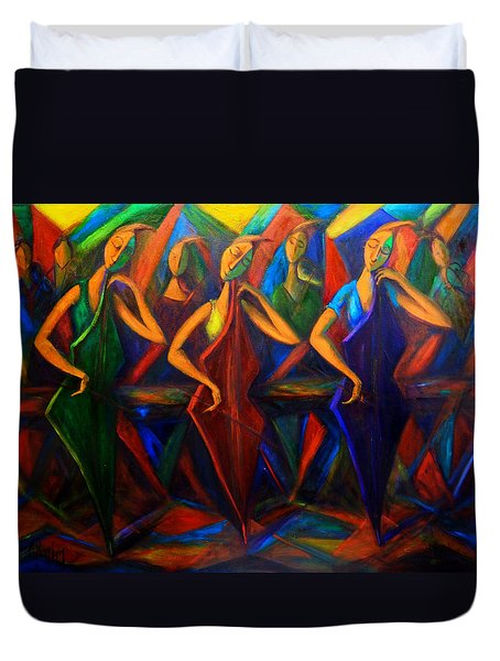 Cubism Music I Duvet Cover