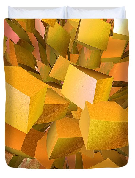 Cubist Melon Burst By Jammer Duvet Cover by First Star Art