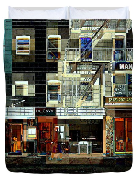 Shops Duvet Cover by Miriam Danar