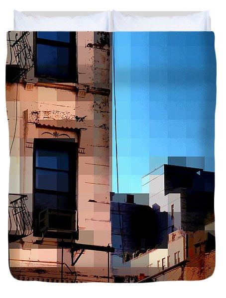 Up On The Roof Duvet Cover by Miriam Danar