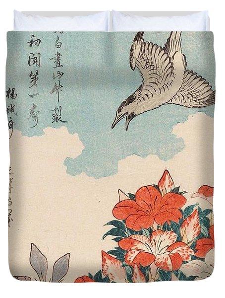 Cuckoo And Azaleas Duvet Cover