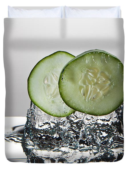 Cucumber Freshsplash Duvet Cover by Steve Gadomski