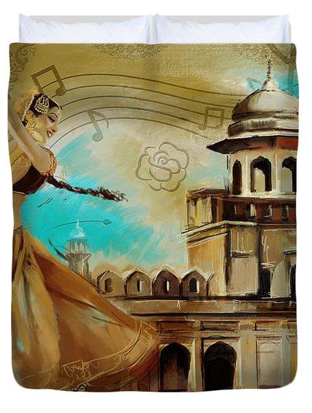 Cultural Dancer Duvet Cover by Catf