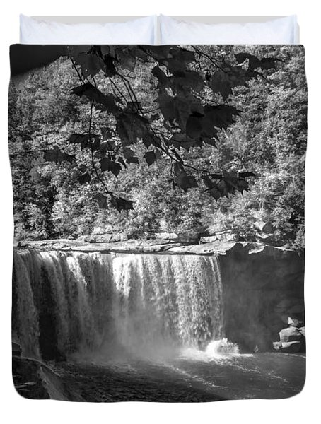 Cumberland Falls Six Bw Duvet Cover