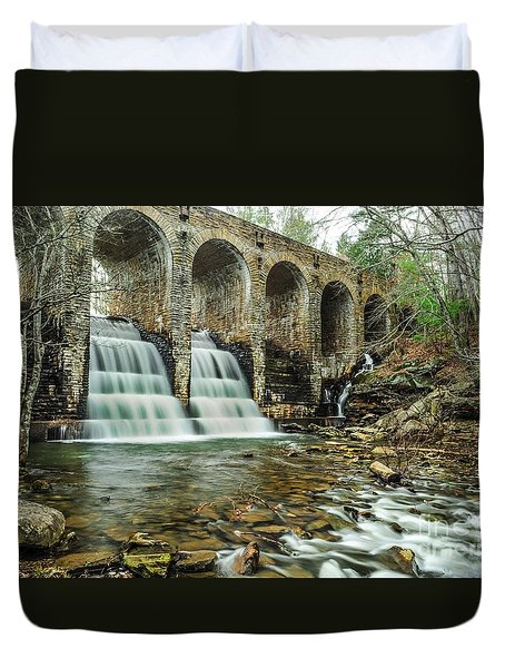 Cumberland Waterfall Duvet Cover by Debbie Green