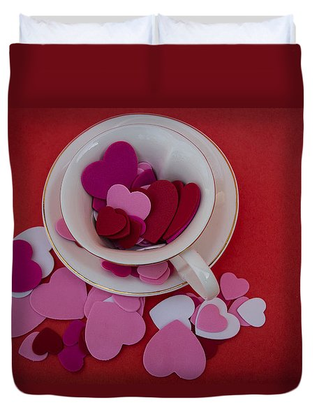Cup Full Of Love Duvet Cover by Patrice Zinck