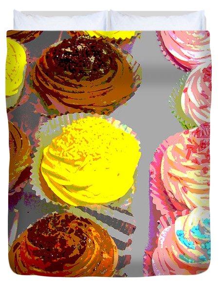 Cupcake Suite Duvet Cover by Beth Saffer