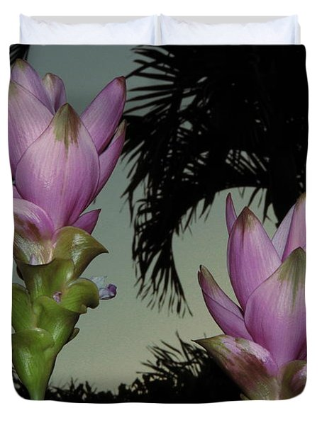 Duvet Cover featuring the photograph Curcuma Hybrid Flowers by Greg Allore