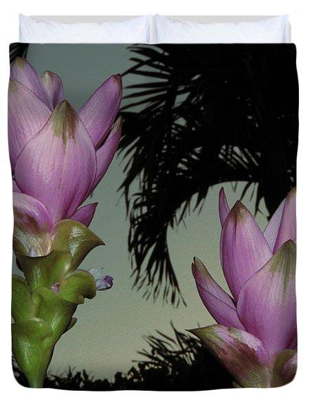 Curcuma Hybrid Flowers Duvet Cover
